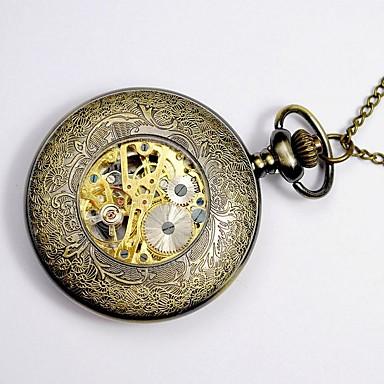 Bărbați Ceas de buzunar Quartz Mare Dial Aliaj Bandă Vintage Yellow