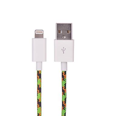 hxinh nylon gevlochten mfi gecertificeerde bliksem naar usb 2.0-lader sync-kabel, voor de iPhone 7 6s plus se 5s, ipad, 1m
