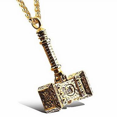 للرجال تعليقات Taper Shape الفولاذ المقاوم للصدأ الصلب التيتانيوم تصميم بسيط موضة شخصية مجوهرات من أجل يوميا فضفاض