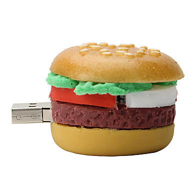 hamburger 16gb USB2.0 cauciuc unitate flash disc