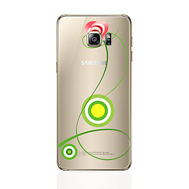 Pouzdro Uyumluluk Samsung Galaxy S7 edge S7 Şeffaf Temalı Arka Kılıf Çiçek Yumuşak TPU için S7 edge S7 S6 edge plus S6 edge S6 S5 S4