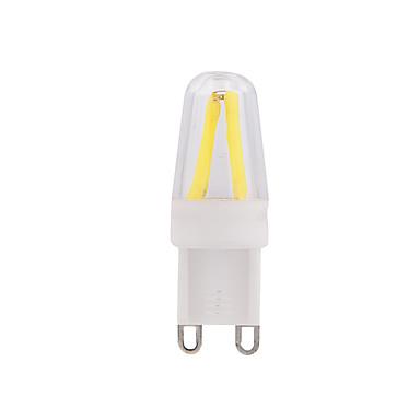 1pc 2 W 250 lm E14 G9 LED Λάμπες Πυράκτωσης T leds COB Με ροοστάτη Θερμό Λευκό Ψυχρό Λευκό AC 220-240V