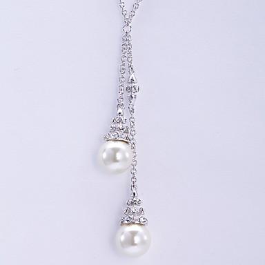 Coliere cu Pandativ Cristal Imitație de Perle Imitație de Perle Stil Atârnat De Bază Modă European Bijuterii Pentru Zilnic Casual