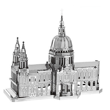 3D Yapbozlar Yapboz Metal Yapbozlar Oyuncaklar Ünlü Binası Kilise Mimari 3D Kendin-Yap Metal Çocuk Parçalar