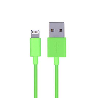 mfi gecertificeerde bliksem 8-pin usb sync data / oplaadkabel voor iPhone 7 6s 6 plus se 5s 5 ipad 100cm, zwart)