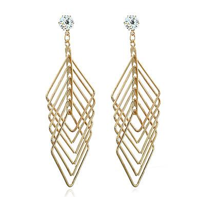 Naisten Dangle korvakorut Synteettinen timantti Zirkoni Gold Plated Korut Käyttötarkoitus Häät Party