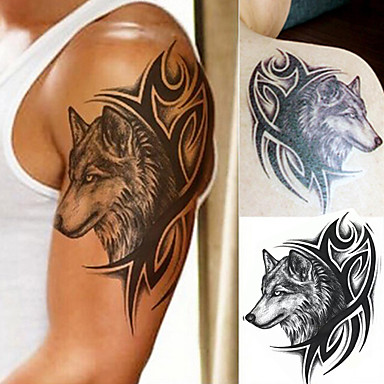 1 pcs Tattoo Stickers Temporary Tattoos Totem Series / Animal Series / Art Deco / Retro Waterproof / 3D Body Arts Body / Shoulder / Leg