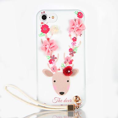 Varten Paljetti DIY Etui Takakuori Etui Piirros Pehmeä TPU varten AppleiPhone 7 Plus iPhone 7 iPhone 6s Plus iPhone 6 Plus iPhone 6s