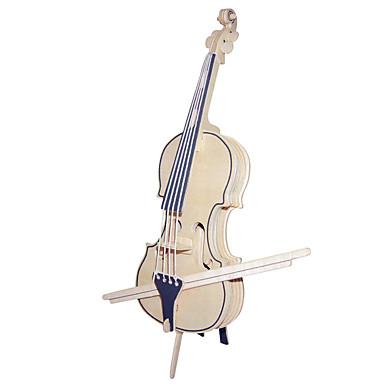Puzzle Lemn Vioară Instrumente Muzicale Violoncel nivel profesional Lemn Zuia Copiilor Gril pe Kamado  ziua îndragostiților