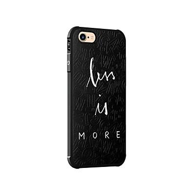 tok Για Apple iPhone 7 Plus iPhone 7 Ανθεκτική σε πτώσεις Πίσω Κάλυμμα Λέξη / Φράση Μαλακή Σιλικόνη για iPhone 7 Plus iPhone 7 iPhone 6s