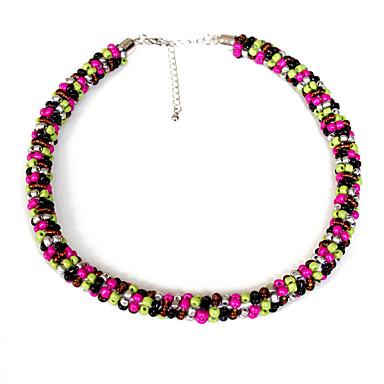 Kadın Gerdanlıklar Mücevher Mücevher alaşım Moda Ayarlanabilir Çok güzel Kişiselleştirilmiş Boncuklar Avrupa Gül Kırmızısı Mücevher Için