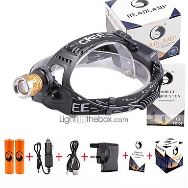 U'King Otsalamput Ajovalo LED 1500 lm 4.0 Tila LED Akuilla ja laturilla Zoomable Säädettävä fokus Kompakti koko Väärennetyt Detector