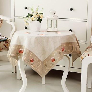 100% bumbac Pătrat Fețe de masă Brodată Decoratiuni de tabla