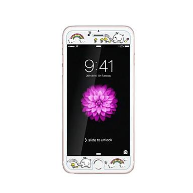 Karanlık gökkuşağı fil kabartma karikatür desen ışıltı ile apple iphone 6 / 6s 4.7inch temperli cam şeffaf ön ekran koruyucusu