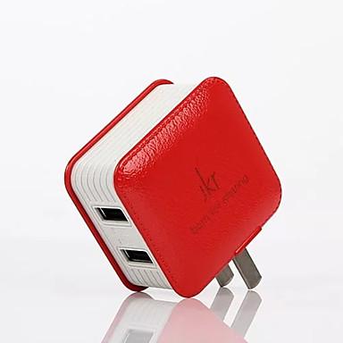 US-pistoke Puhelin USB-laturi Nopea lataus cm myyntipisteistä 2 USB-portti 2,1A 1A AC 100V-240V