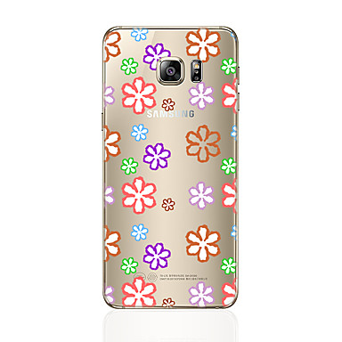 Etui Käyttötarkoitus Samsung Galaxy S7 edge S7 Läpinäkyvä Kuvio Takakuori Kukka Pehmeä TPU varten S7 edge S7 S6 edge plus S6 edge S6 S5 S4