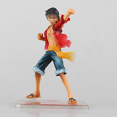 Anime Toimintahahmot Innoittamana One Piece Monkey D. Luffy 13 CM Malli lelut Doll Toy