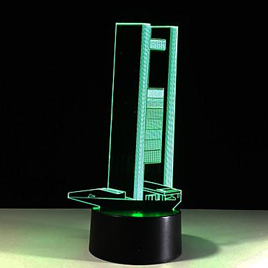 1 قطعة ليلة 3D لمس 7-اللون زوومابلي ليلة الرؤية لون التغير حجم مصغر