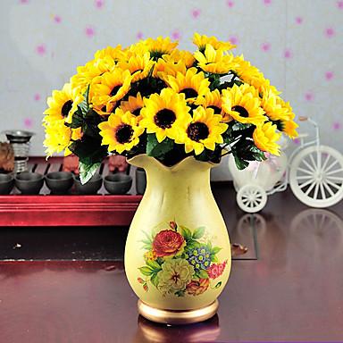 Sztuczne Kwiaty 1 Gałąź minimalistyczny styl Słoneczniki Bukiety na stół