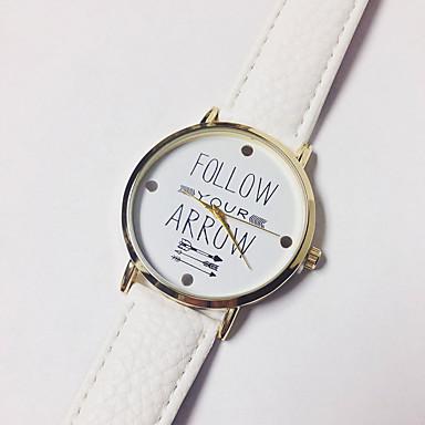 Ανδρικά Γυναικεία Μοδάτο Ρολόι Χαλαζίας Γνήσιο δέρμα Μπάντα Φυλαχτό Καθημερινά Λεκτικό ρολόι Μαύρο Λευκή Μπλε Καφέ Γκρι Ροζ Κίτρινο