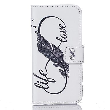 Кейс для Назначение SSamsung Galaxy S7 edge S7 Бумажник для карт Кошелек С узором Чехол  Перья Твердый Кожа PU для S7 edge S7 S6 edge