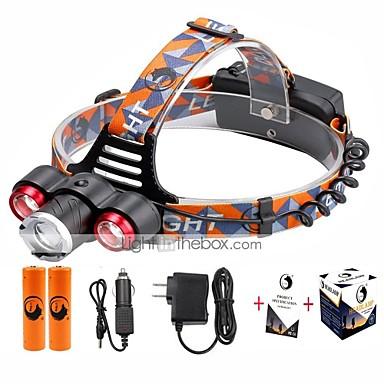 U'King Otsalamput Ajovalo LED 5000 lm 4.0 Tila Cree XP-E R2 Cree XM-L T6 Säädettävä fokus Zoomable Helppo kantaa High Power Monikäyttö