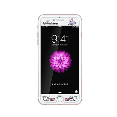 ruhlu karanlıkta kabartma karikatür desen ışıltı ile apple iphone 6 / 6s 4.7inch temperli cam şeffaf ön ekran koruyucusu
