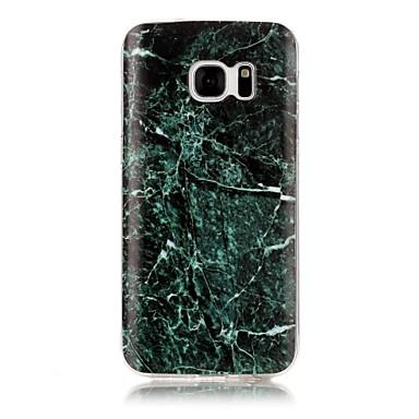 Etui Käyttötarkoitus Samsung Galaxy S7 edge S7 IMD Kuvio Takakuori Marble Pehmeä TPU varten S7 edge S7 S6 edge S6 S5 S4 S3