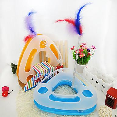 Jucărie Pisică Jucării Animale Interactiv Reclame Jucării Pană Tuburi & Tuneluri Jucărie Șoarece Țipăt ascuțit Disc Minge Urmărire
