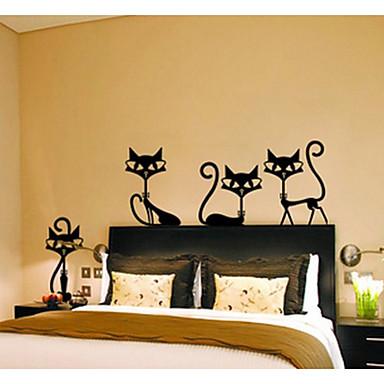 Hayvanlar Moda Serbest Duvar Etiketler Uçak Duvar Çıkartmaları Dekoratif Duvar Çıkartmaları, Kağıt Ev dekorasyonu Duvar Çıkartması Duvar