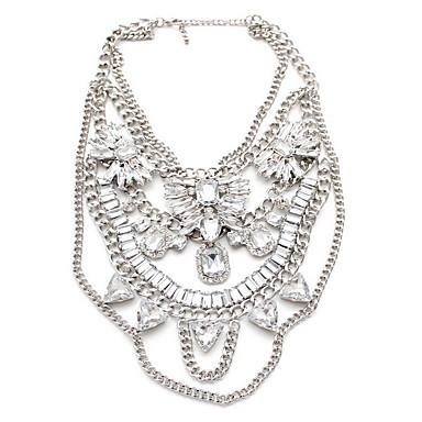 Dame Coliere cu Pandativ Bijuterii Piatră Preţioasă Aliaj Bijuterii La modă Personalizat Euramerican Argintiu BijuteriiPetrecere Ocazie