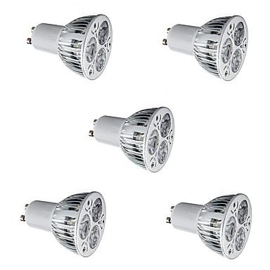5pcs 3W 300-400 lm GU10 LED ضوء سبوت MR16 3 الأضواء طاقة عالية LED أبيض دافئ أبيض كول 85-265V