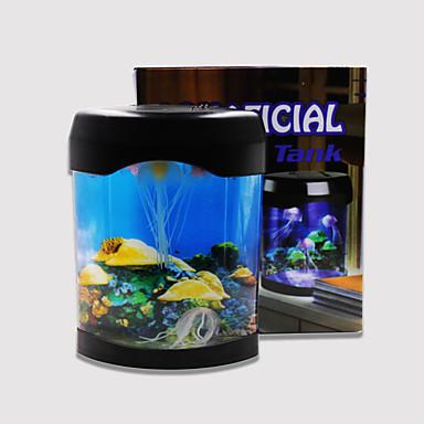 Baojie acvariu lampă meduze neon lumini usb mini acvariu