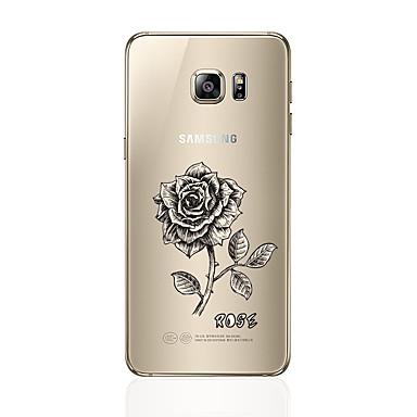 Maska Pentru Samsung Galaxy S7 edge S7 Transparent Model Capac Spate Floare Moale TPU pentru S7 edge S7 S6 edge plus S6 edge S6 S5 S4