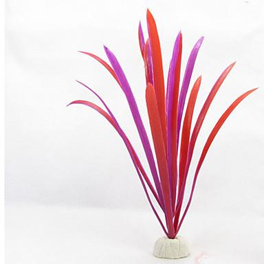 Διακόσμηση Ενυδρείου Υδρόβιο φυτό Μη τοξικό και χωρίς γεύση Πλαστικό Κόκκινο