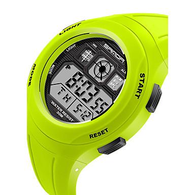 levne Pánské-KEZZI Dětské Sportovní hodinky Křemenný / Silikon Kapela Běžné nošení Černá Modrá Červená Zelená RůžováArmádní zelená Červená Modrá