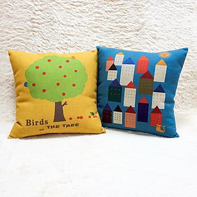1 szt Cotton / Linen Poszewka na poduszkę,Wzory graficzneModern / Contemporary Przypadkowy Biuro / Biznes Akcent / Decorative Na wolnym