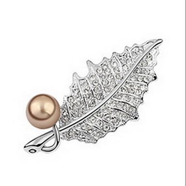 Γυναικεία Καρφίτσες Μαργαριταρένια Φύση Μαργαριτάρι Απομίμηση Μαργαριταριού Χρυσό Μαργαριτάρι Μαύρο μαργαριτάρι Κράμα Leaf Shape Κοσμήματα