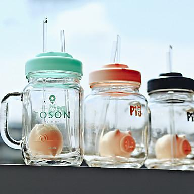 διαφανή drinkware, 400 ml φιλτραρίσματος θερμομονωτικά ποτήρι χυμό καφέ τέκτονας βάζο με άχυρο& σουρωτήρι