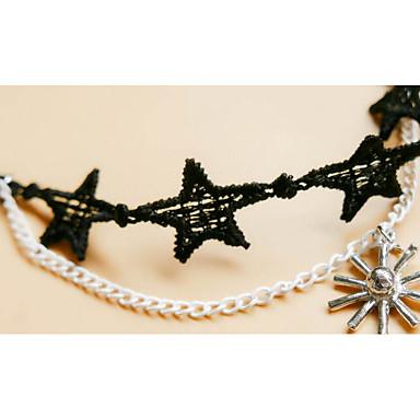 Γυναικεία Βραχιόλι αστραγάλου/Βραχιόλια Δαντέλα Φιλία Χιπ-Χοπ Rock Υποαλλερικό Χειροποίητο Heart Shape Cross Shape Κοσμήματα ΓιαΠάρτι