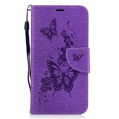tok Για Huawei P9 Lite Huawei Θήκη καρτών Πορτοφόλι με βάση στήριξης Ανοιγόμενη Με σχέδια Ανάγλυφη Πλήρης Θήκη Πεταλούδα Σκληρή PU δέρμα