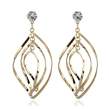 نساء أقراط تتدلى كريستال الماس الاصطناعية زركون مطلية بالذهب مجوهرات من أجل زفاف حزب