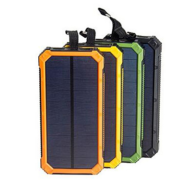 cheap Power Banks-Solar Power Bank Waterproof 16000mAh Solar Charger Dual USB Ports External Charger Powerbank for Smartphone with LED Light
