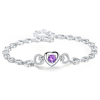 Naisten Ranneketjut Kristalli Nature Muoti Kristalli Metalliseos Heart Shape Lohikäärme Korut Käyttötarkoitus Party Kihlaus