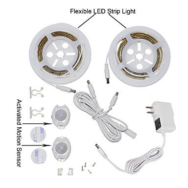 ywxlight® 2835smd 3w 36LED sıcak beyaz soğuk beyaz bizim için çift kişilik yatak hareket aktive yatak ışık 2x1.2m esnek şerit zamanlayıcı