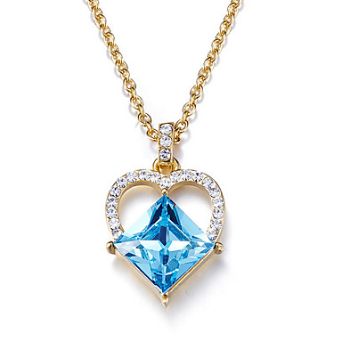 Riipus-kaulakorut Kristalli Heart Kristalli Roikkuva Perus minimalistisesta Korut Käyttötarkoitus Päivittäin Kausaliteetti