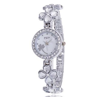 Bayanların Spor Saat Elbise Saat Moda Saat Bilek Saati Bilezik Saat Sahte Elmas Saat Quartz imitasyon Pırlanta Alaşım Bant İhtişam Günlük