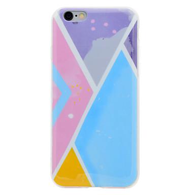 Pouzdro Uyumluluk Apple IMD Temalı Arka Kılıf Geometrik Desenli Yumuşak TPU için iPhone 7 Plus iPhone 7 iPhone 6s Plus iPhone 6 Plus