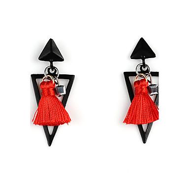 Naisten Pisarakorvakorut - Tupsu Euramerican Musta Harmaa Punainen Sininen Kolmia Geometric Shape korvakorut Käyttötarkoitus Party