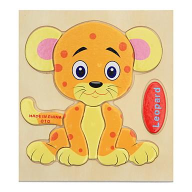 بطاقات تعليمية تركيب تركيب خشبي ألعاب الألغاز ألعاب تربوية Tiger الحيوانات كرتون هدية